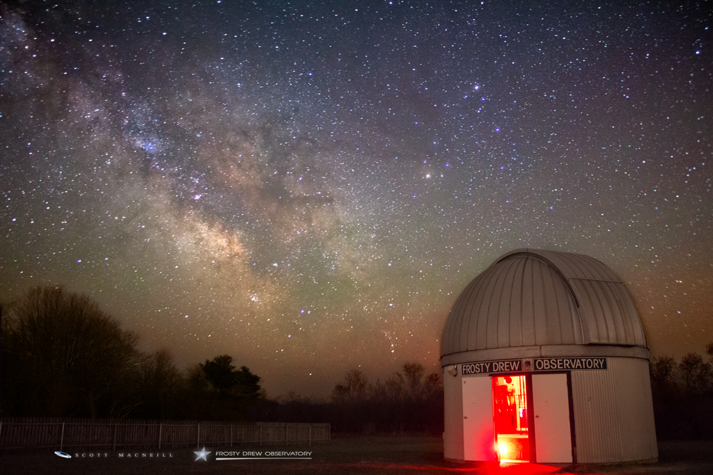 The Milky Way Returns to Frosty Drew Observatory on Earth Day
