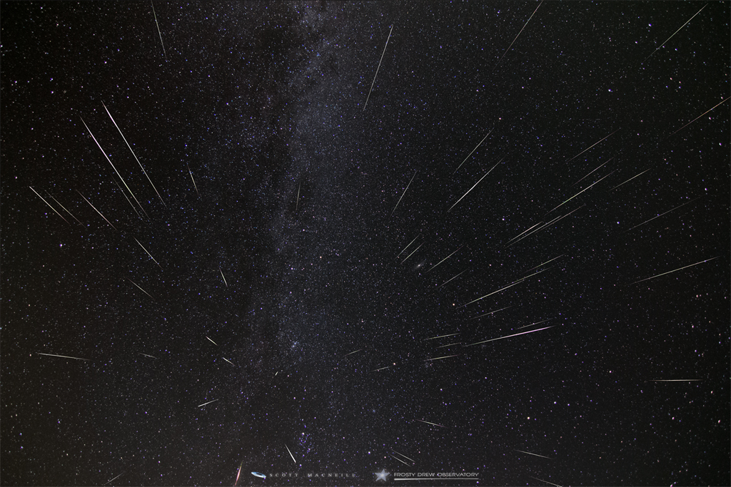 Perseid Meteor Shower 2015 Radiant Point