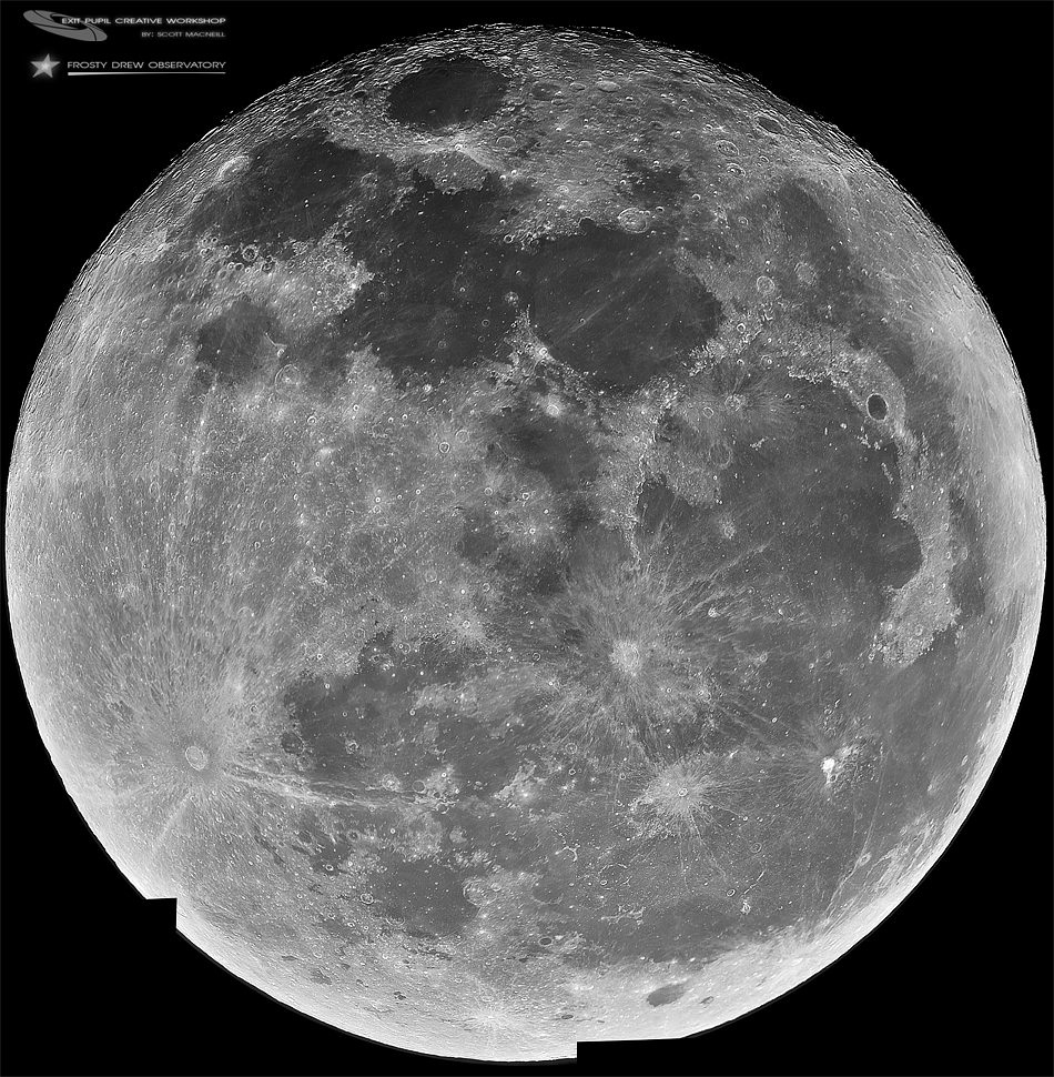 The Full Long Night Moon in 100 Megapixels