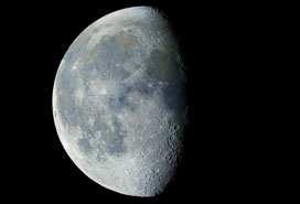 78% Waning Gibbous Moon in Color